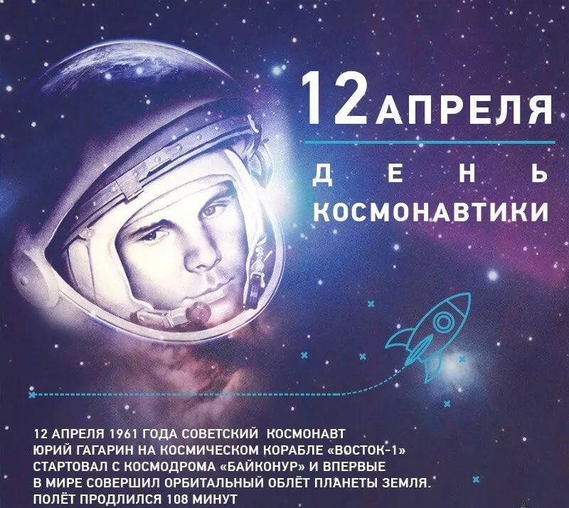 Открытка с 12 апреля день космонавтики, марта открытка самая